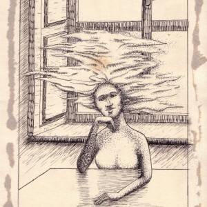 Pontocskák, vonalacskák / Dots and Lines (1979, tus, 16,8 cm x 25,2 cm)