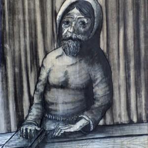 Evangélista / Evangelist (1980, tus-tinta, 15,3 cm x 19,9 cm)
