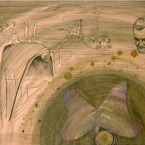 A Kondor B. / The B. Kondor (1981, tus-tempera, 40 cm x 29 cm)