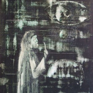 A tanító / The Tutor (1981, akvarell, 35 cm x 50 cm)