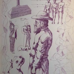 Dachau (1981, filc, 35 cm x 50 cm)