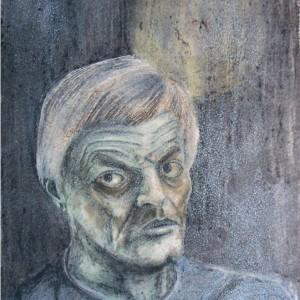 Nagy László / Nagy László (1981, zsírkréta, 29,3 cm x 41,5 cm)