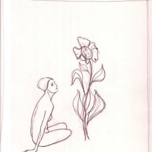 A nagy virág / The Big Flower (1982, tus, 20,8 cm x 24,5 cm)