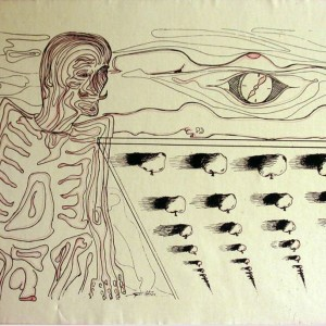 Dali (1982, tus, 60 cm 40 cm)