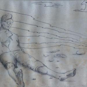 Harc a nagyúrral - Ady / Fight with the Lord - Ady (1983, grafit, 29 cm x 19 cm)