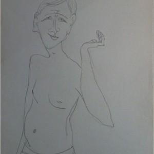 Lütyüke / Wazzock (1983, grafit, 30 cm x 42 cm)
