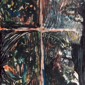 Variációk / Variations (1984, akvarell, 35 cm x 50 cm)