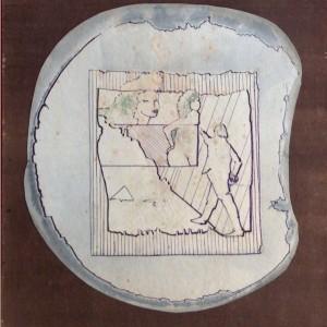 Csajok / Girls (1985, tus-akvarell, 28 cm x 39 cm)