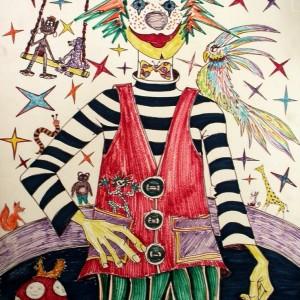 Bohóc / Clown (1988, akvarell)
