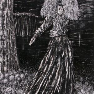 Cigánylány 2 / Gipsy Girl 2 (1989, tus, 28 cm x 35 cm)