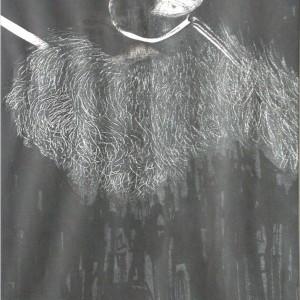 Igazlátó / Viewer (1989, tus, 20 cm x 28 cm)