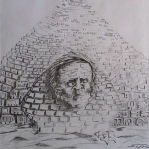 Szfinx / Sphinx (1993, grafit, 19,5 cm x 27,5 cm)