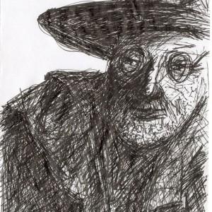 Én kuszán / Me Puzzled (2004, toll, 10,5 cm x 15 cm)
