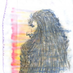 Kovács J. / J. Kovács (2004, tus-alkohol, 16 cm x 20 cm)