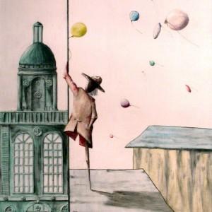 Majális 1. / Mayday 1. (1997, akvarell-tus, 55 cm x 79 cm)