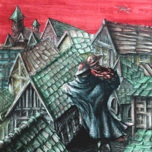 Utolső tánc /  Last Dance (1998, akvarell, 42,5 cm x 72,5 cm)