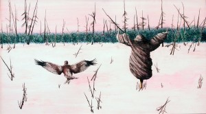 Költözés / Moving (2000, akvarell, 52,5 cm x29 cm)