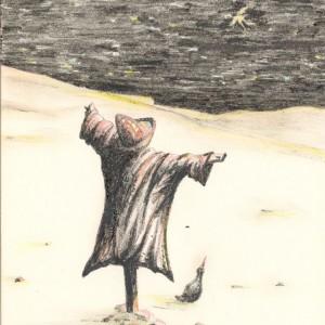 Megszületett / Born (2001, grafit, 13,7 cm x 17,8 cm)