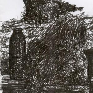 Cimborák / Mates (2003, toll, 10,5 cm x 15 cm)