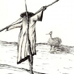 Kíváncsiság / Curiosity (2003, tus, 15 cm x 21 cm)