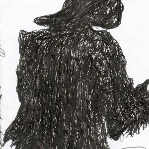 Félvállról / Disdainfully (2004, toll, 10,3 cm x 14,7 cm)