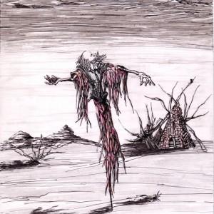 Téli kalit / Winter Cage (2005, tus-grafit, 21 cm x 30 cm)